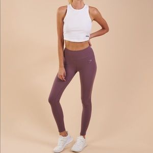 gymshark aspire legging in purple wash